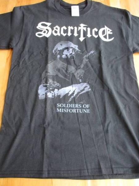 SACRIFICE Tシャツ soldiers of misfortune 黒M / slayer possessed sodom