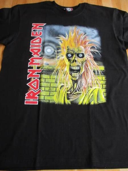 IRON MAIDENTシャツ running free 黒M アイアン メイデン / metallica judas priest