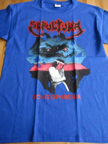 SEPULTURA Tシャツ schizophrenia 青M / slayer sodom kreator