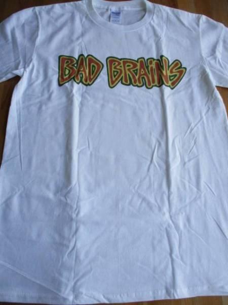BAD BRAINS Tシャツ logo 白M / black flag poison idea