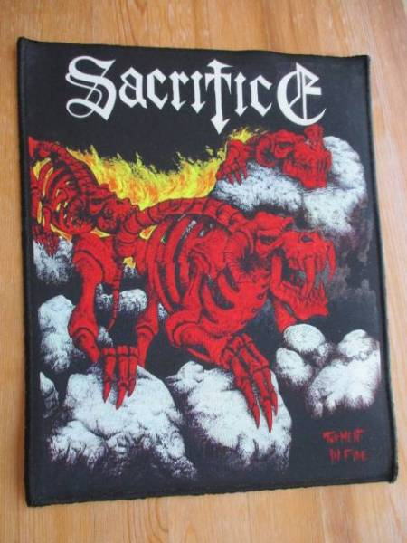 SACRIFICE プリントバックパッチ ワッペン torment in fire