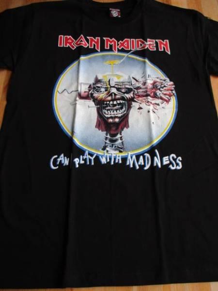 IRON MAIDEN Tシャツ can I play 黒M / motorhead metallica