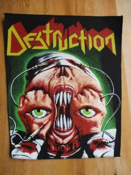 当時物!! DESTRUCTION プリントバックパッチ ワッペン release from agony デッドストック ヴィンテージ / sodom slayer