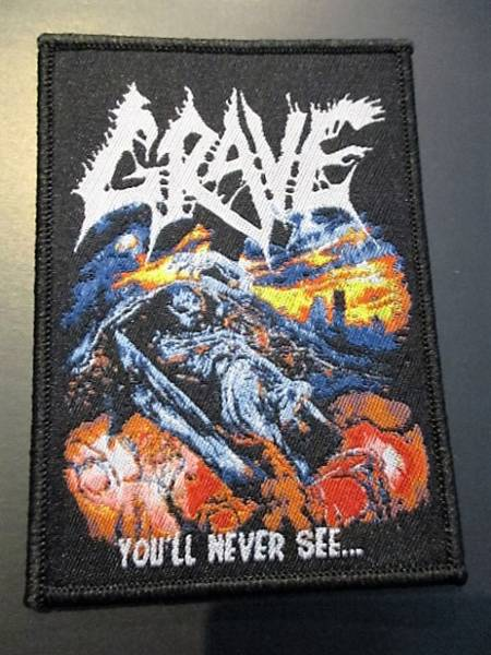 GRAVE 刺繍パッチ ワッペン you'll never see / sodom slayer