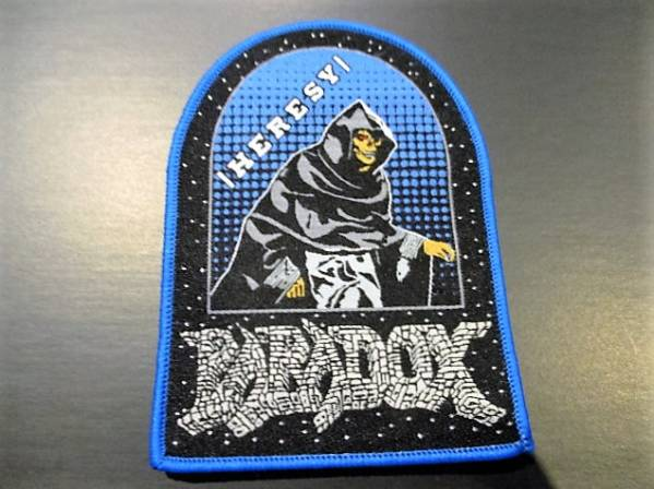 PARADOX 刺繍パッチ ワッペン heresy 青 / exodus metallica