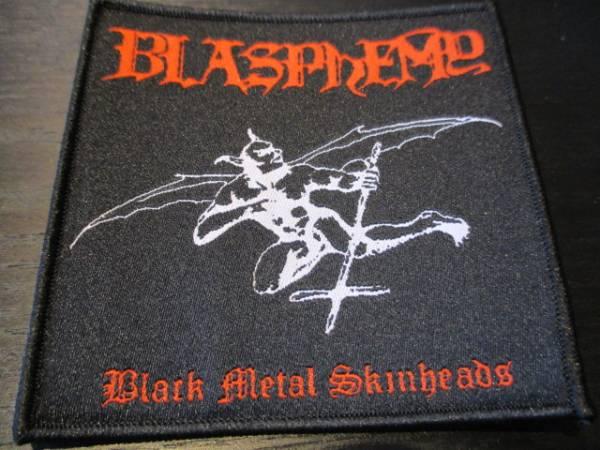 BLASPHEMY 刺繍パッチ ワッペン black metal / mayhem morbid