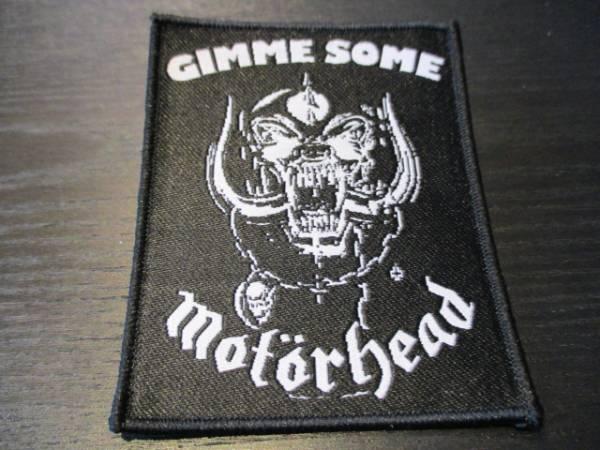 Motorhead 刺繍パッチ ワッペン gimme some / iron maiden