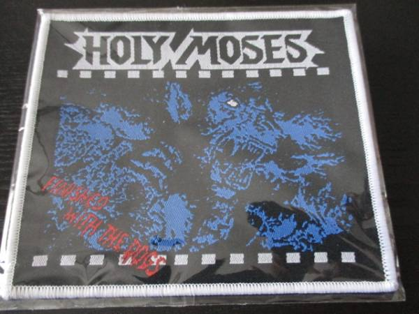 Holy Moses 刺繍パッチ ワッペン finished with the dogs