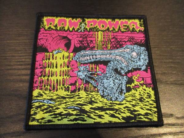 RAW POWER 刺繍パッチ ワッペン Screams From The Gutter