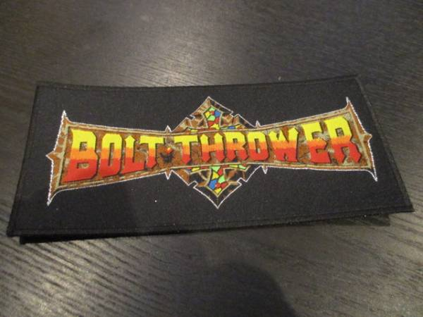 BOLT THROWER 刺繍パッチ ワッペン logo stripe / death metal
