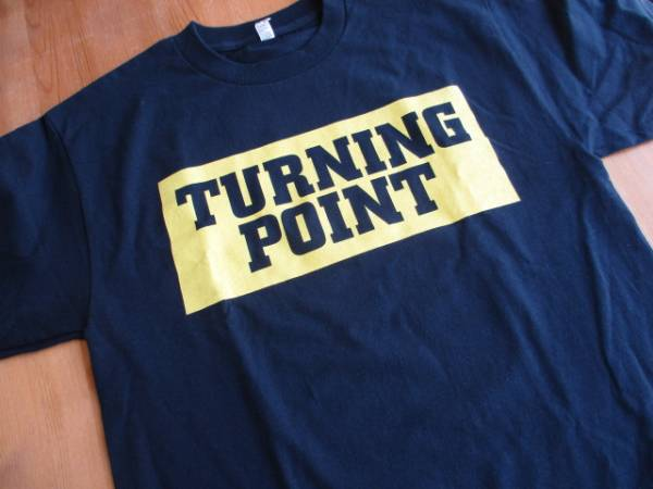 TURNING POINT Tシャツ Hi impact records 紺M / judge youth of today bold leeway
