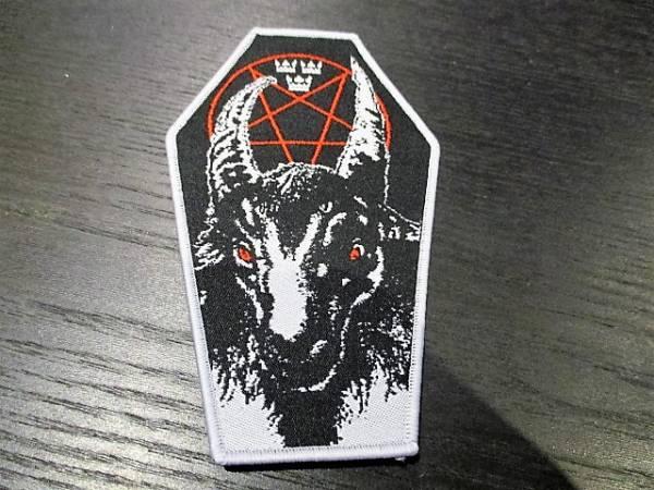 BATHORY 刺繍パッチ ワッペン coffin shape / sodom slayer