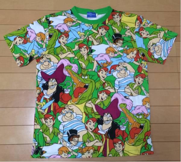 新品 限定 ディズニー TDR ピーターパン総柄 Tシャツ m スミー ディズニーグッズの画像