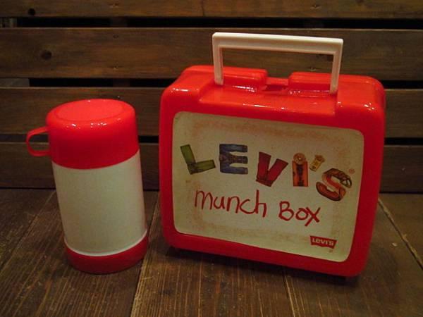 ビンテージ70's★Levi'sランチボックス&水筒★リーバイス60's80sアドバタイジングアウトドアキャンプ_画像2