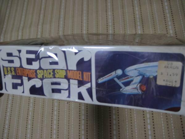 貴重な初版 新品 AMT エンタープライズ プラモデル スタートレック オリジナル シュリンク未開封 star trek enterprise TOS_画像2