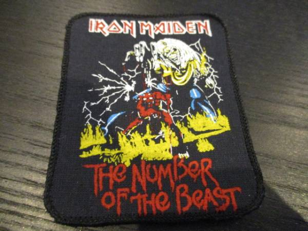 IRON MAIDEN プリントパッチ ワッペン the number of the beast