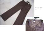 ◆新品バーバリー48腰裏縁取りノバチェック柄ツィード調美パンツ
