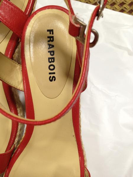 フラボワ FRAPBOIS 赤色 リボンサンダル サイズ23.5_画像2