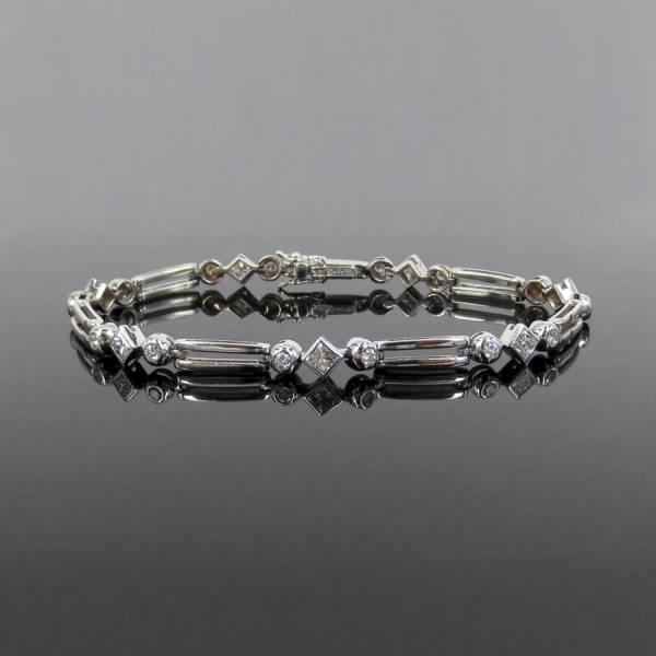新古品《Gerard 1.5ctダイヤモンド》18K ダブルブレスレット_画像1