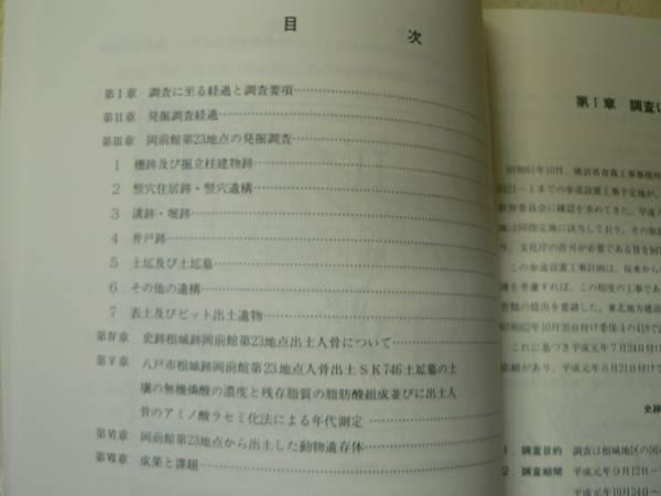 城郭 史跡根城跡発掘調査報告書12/1990年/青森県八戸市/附図_画像2
