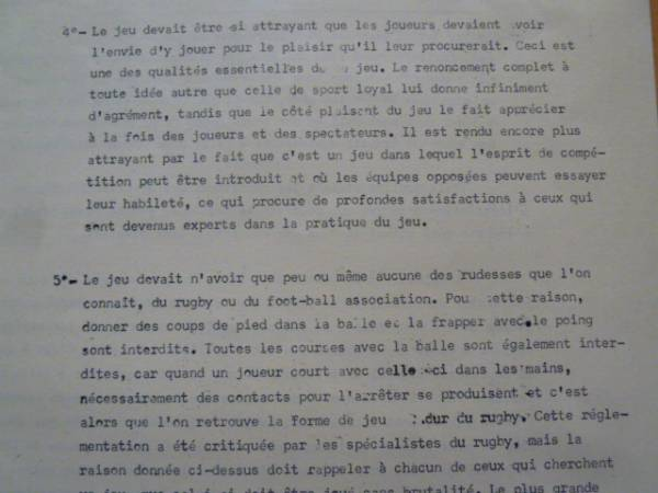 歴史的文書【バスケットボールルール仏語版1892年】ネイスミス著 ヨーロッパに初めて普及したフランスの超稀珍品なバスケットボールルール_画像3