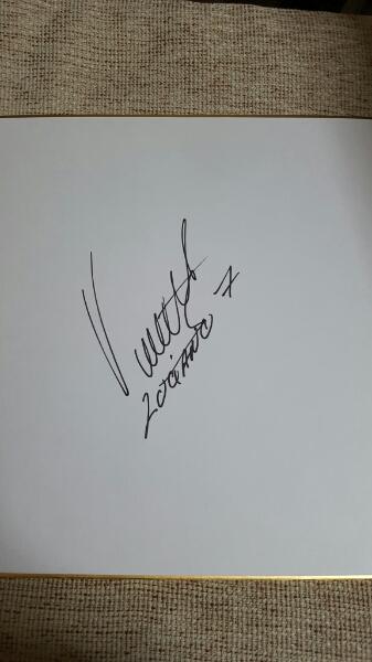 アトレチコマドリード ルシアーノ・ビエット 直筆サイン色紙