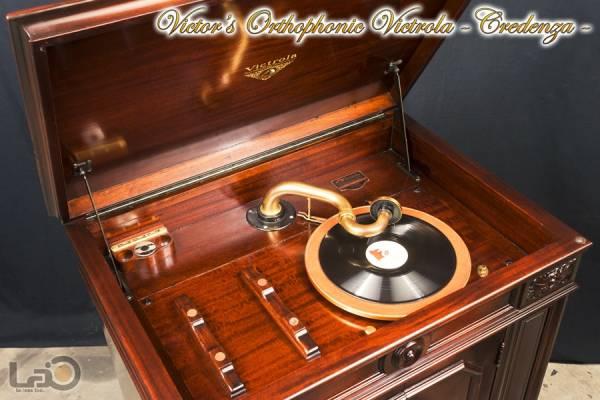 クレデンザ Victrola Credenza 初期真鍮製サウンドボックス_画像1