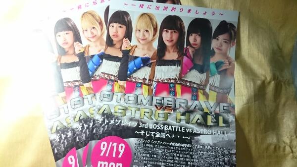 チラシ☆オトメブレイヴ 宣伝用 3枚セット 送料120円