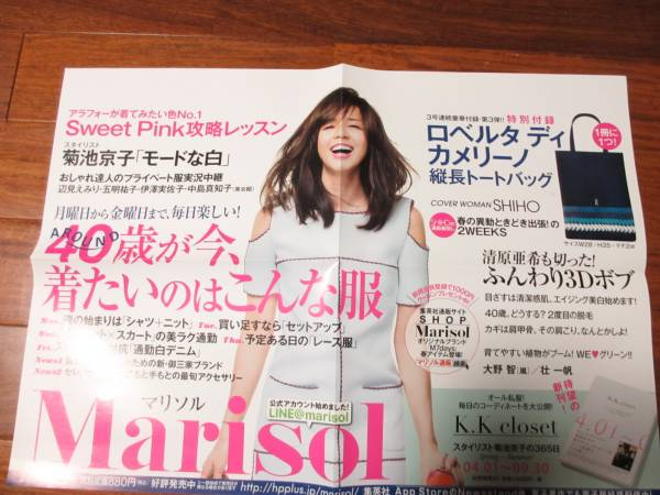 マリソル 2014年5月号 告知ポスター 山口智子  送料込み