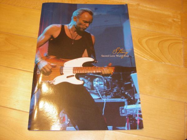 スティング Sting 2004 Sacred Love World ツアーパンフ