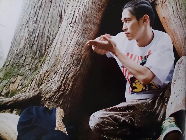 卍LINE/窪塚洋介着用:DESTROY BABYLON/FIVE-O/DUPPIES - CHOKO CHIP CAMO PANTS/カーゴパンツ by RED × NABEE