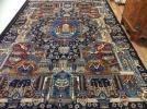 ★栄光 ペルシャ絨毯ウールカシュマル産6平米ペルセポリス柄★