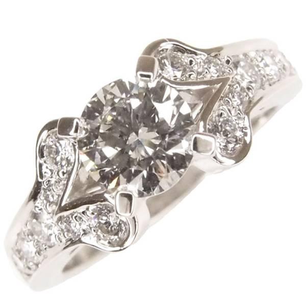 新品仕上げ カルティエ リング バレリーナ ソリテール ダイヤリング 0.50ct 8号 Pt950 プラチナ ダイヤモンド リング バレリーナリング