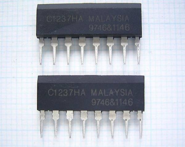 ★送料込み!ステレオパワーアンプ用保護回路IC uPC1237HA 2個