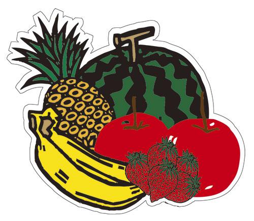 果物のステッカーです。サイズは約70mm角になります。2枚_画像1