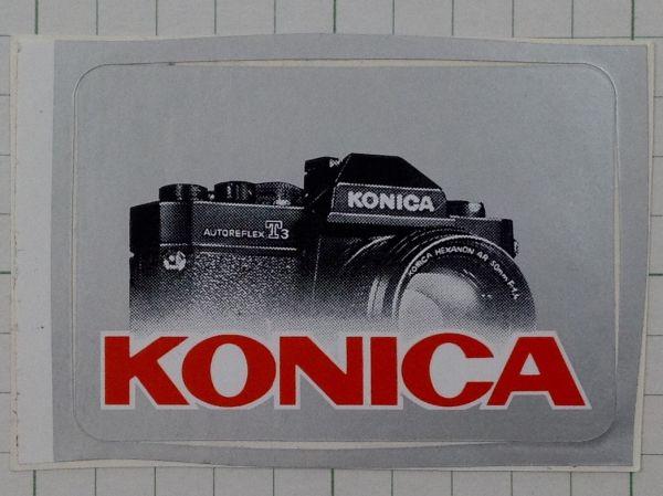 フランスのステッカー:コニカ ビンテージ カメラ 一眼レフ 車 +Bb_画像1