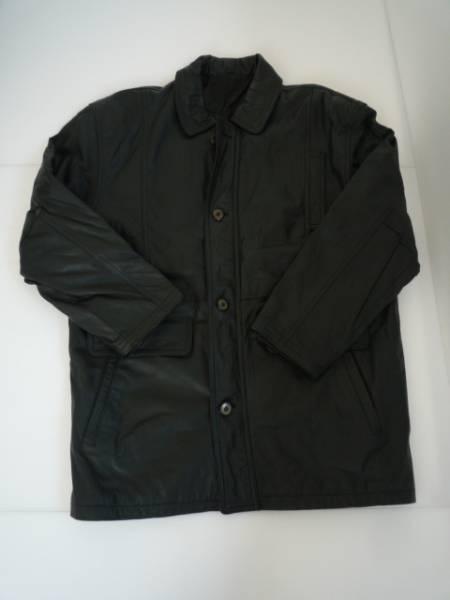 【良品!!】◆JACKER'S◆ 長袖ジャケット 黒色 牛革