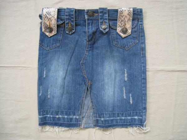 【お買得!】◆BOOTY TRAP JEANS◆デザインデニムスカート M_画像1