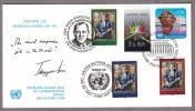 国連切手(3国全種) 1987年FDC/1 初代国連事務総長/リー