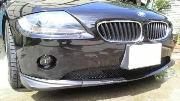 新品 BMW Z4 E85 前期 カーボンリップスポイラー フロントリップ 3分割 エアロワークス_画像1