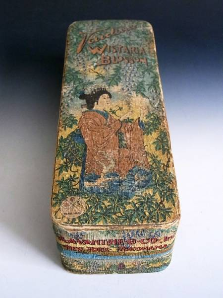明治時代 香水 布張り 化粧箱 ◆ オールド ジャパン_オールド ジャパン