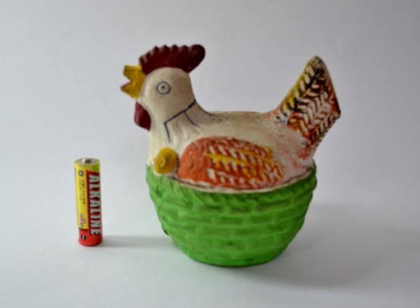 《土》 郷土玩具 貯金箱 鶏 ニワトリ _画像1