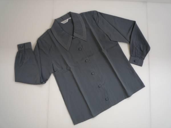 【美品!!】◆Seywour◆長袖ブラウス グレー 7R 小さいサイズ