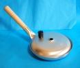 即落札★アルミ親子鍋 蓋付★横柄型★丼物を作る鍋