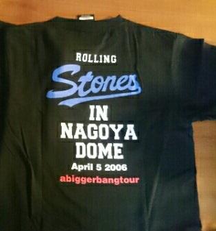 ローリングストーンズ 2006年 日本ツアー 名古屋ドーム Tシャツ ライブグッズの画像
