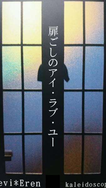 進撃の巨人同人誌★リヴァエレ長編小説★kaleidoscope(白河綜祢)「扉ごしのアイ・ラブ・ユー」140P