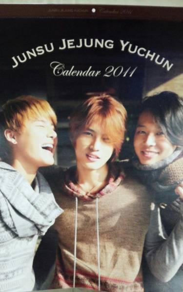 新品未開封 JYJ 2011公式カレンダー 壁掛け ジェジュンユチョンジュンス 東方神起