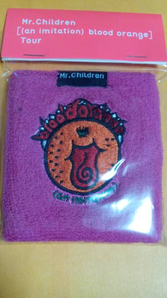 Mr.Children blood orangeツアー リストバンド ピンク/新品 ライブグッズの画像