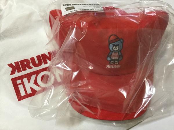 iKON YG公式グッズ KRUNK×iKON BASEBALL CAP キャップ アイコン