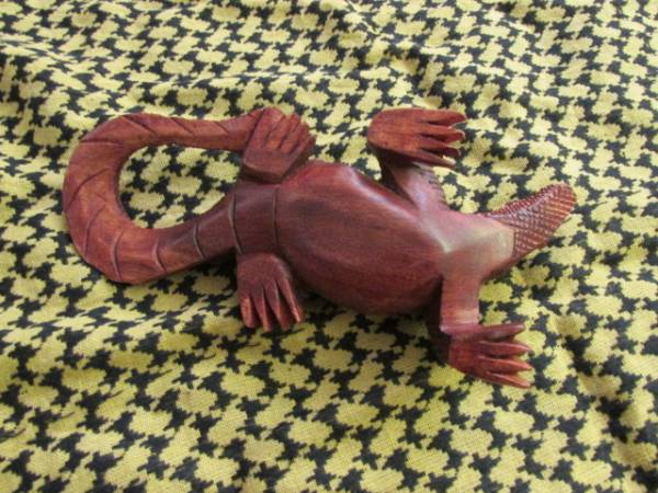 ★本場インドネシア製コモドドラゴン木彫りコモドオオトカゲ_画像2